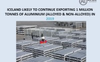 Iceland likely to continue exporting 1 million tonnes of aluminium (alloyed & non-alloyed) in 2019