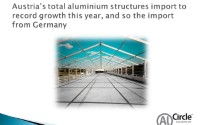 Austria's total aluminium structures import to record growth this year, and so the import from Germany