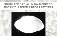 South Africa's alumina import to rise in 2019 after a drop last year