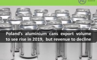 Poland's aluminium cans export volume to see rise in 2019, but revenue to decline