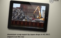 Aluminium scrap export by Japan drops in H2 2017, import is on the rise
