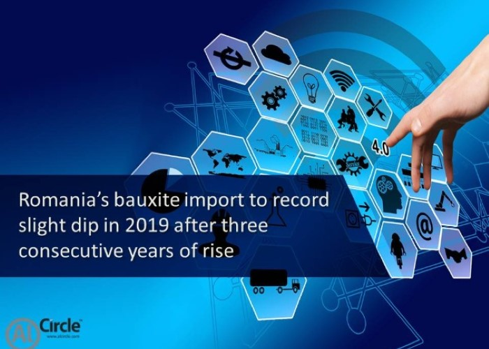Romania's bauxite import to record slight dip in 2019 after three consecutive years of rise