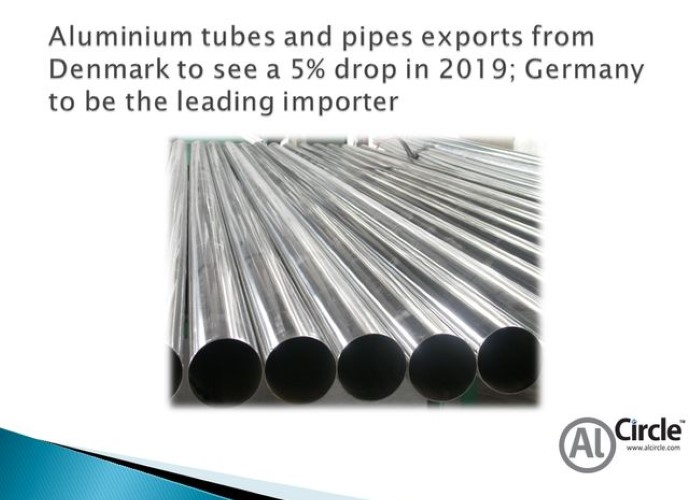 Aluminium tubes and pipes exports from Denmark to see a 5% drop in 2019; Germany to be the leading importer
