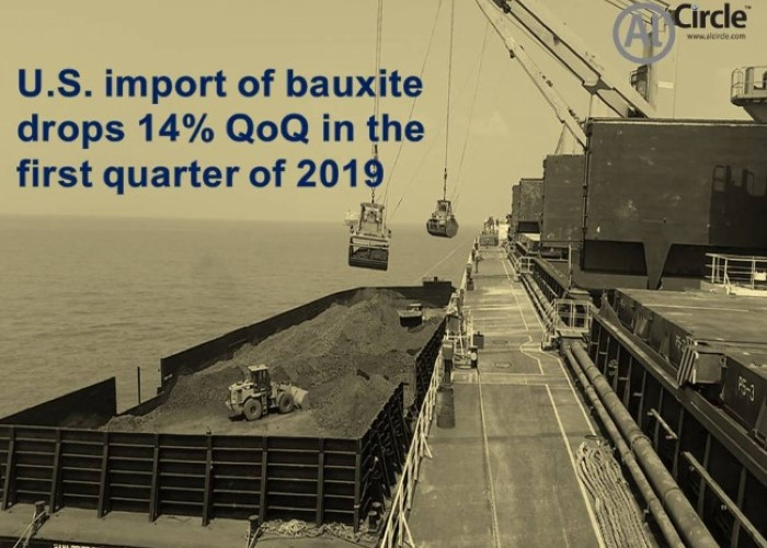 U.S. import of bauxite drops 14% QoQ in the first quarter of 2019; Jamaica remains the top bauxite exporter