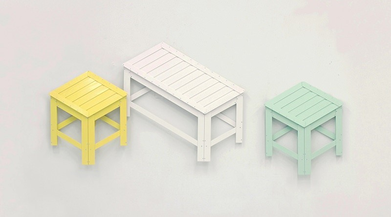 South Korean Designer Jongha Choi Designs De Dimension Foldable Aluminium Furniture