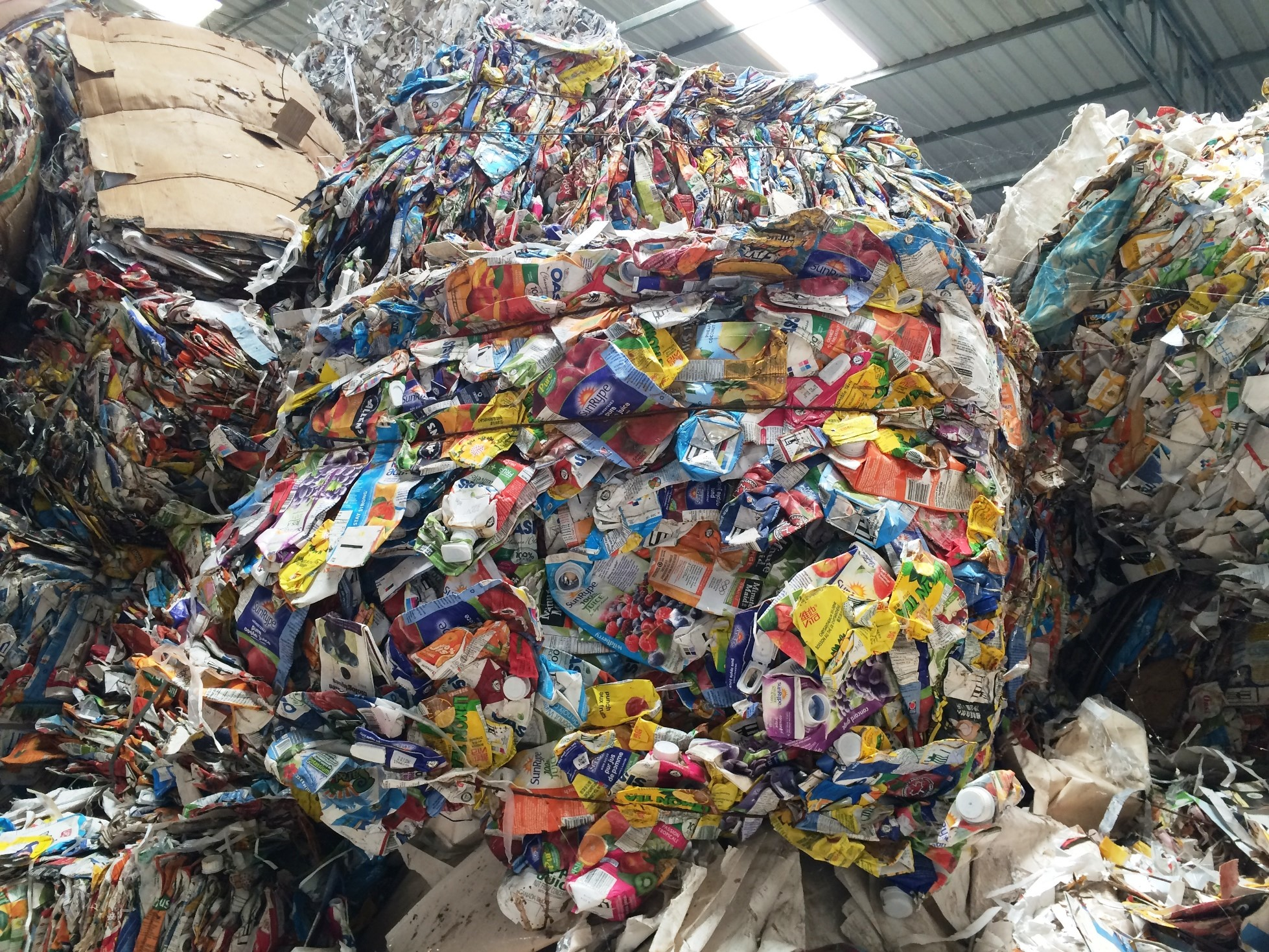 Aluminium from food and beverage cartons can be recovered to make